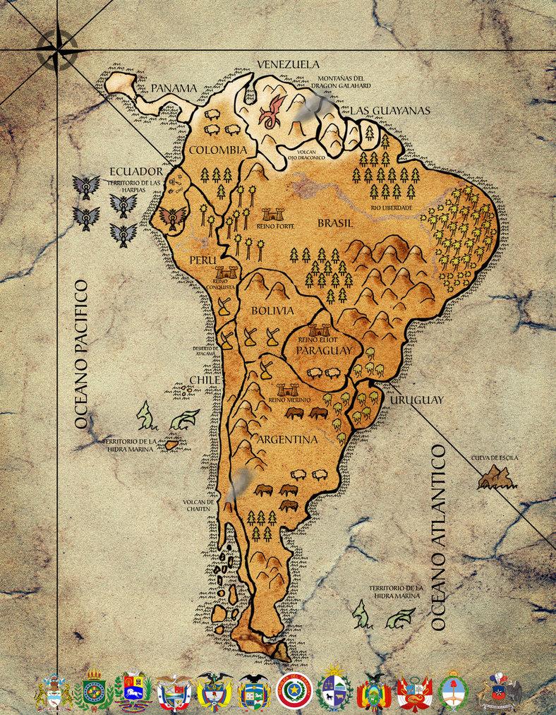 Mapa Antigo de Argentina
